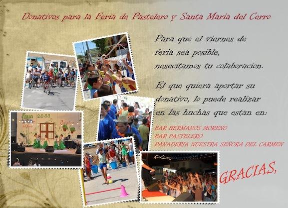 Donativos para la Feria de Pastelero 2012 2