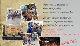 Donativos para la Feria de Pastelero 2012