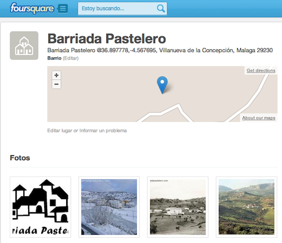 La barriada Pastelero en Foursquare