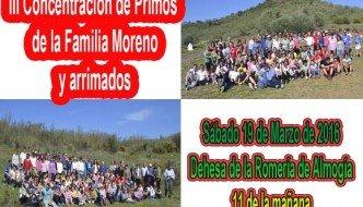 Tercera Concentración de Primos de la Familia Moreno y arrimados